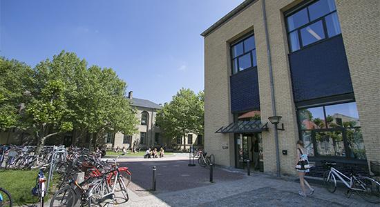 The entrance of Copenhagen University Library Frederiksberg