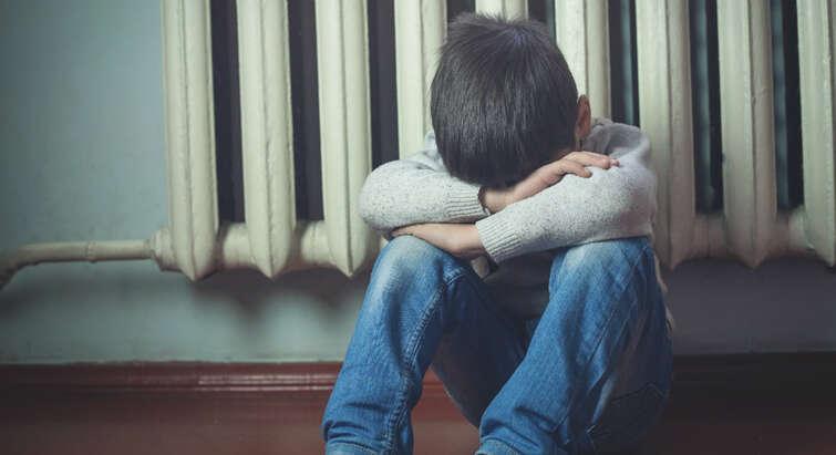 trist dreng